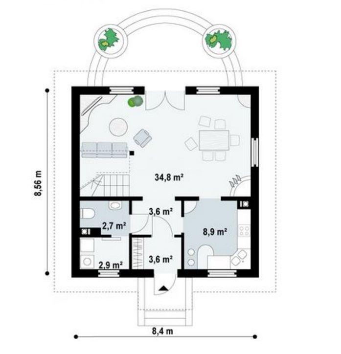 Plano de casa europea