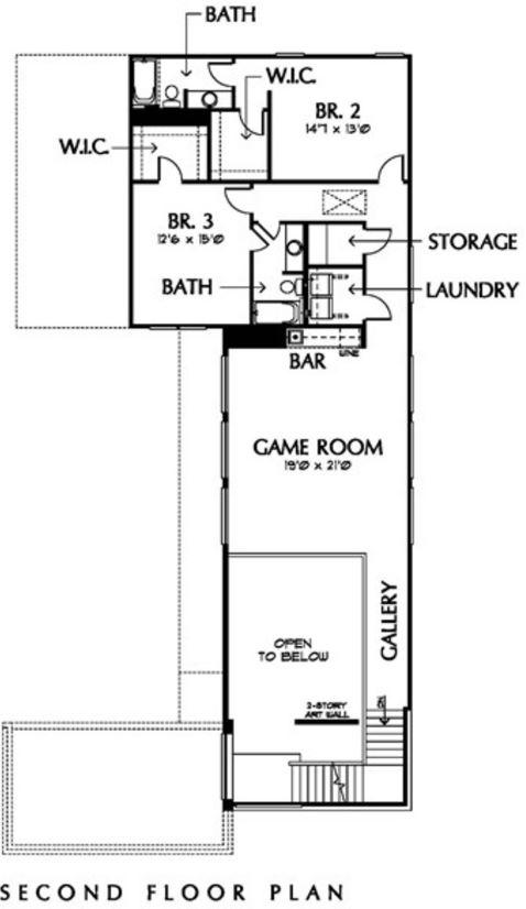 Plano de vivienda angosta