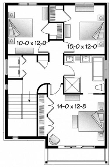 Planos de casa de 3 pisos con garaje