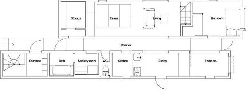 casa angosta planos