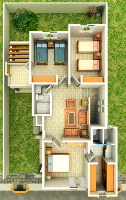 casa de dos pisos o niveles