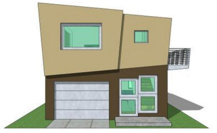 fachada casa minimalista pequeña
