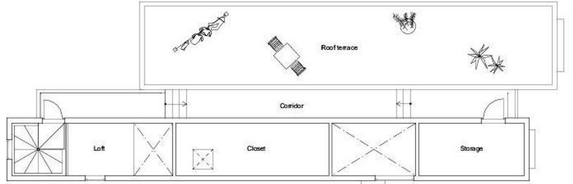 plano de casa angosta