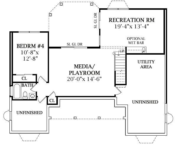 plano de casa de dos pisos de estilo victoriano