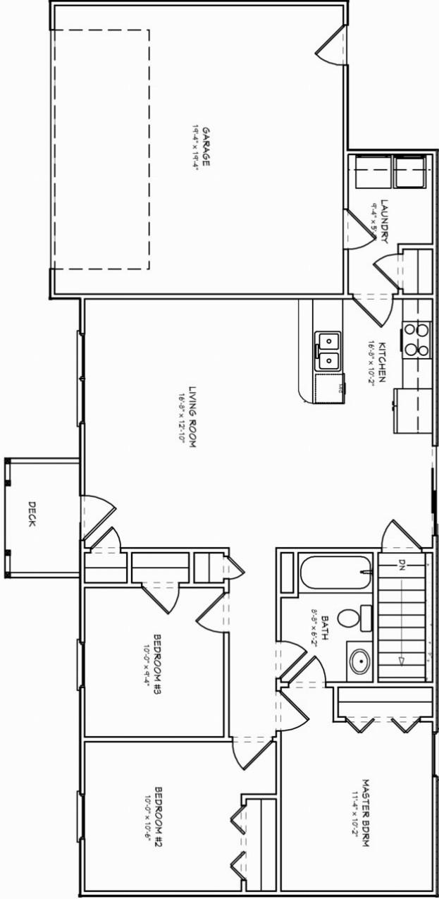 plano de esta casa con lavadero