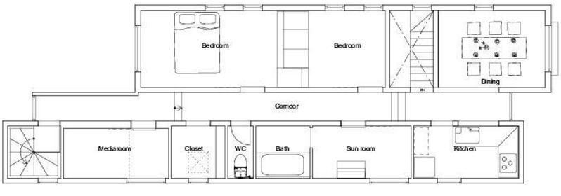 planos de casas estrechas
