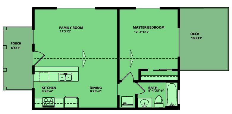 Casas prefabricadas de 1 dormitorio - Planos casas modulares ...