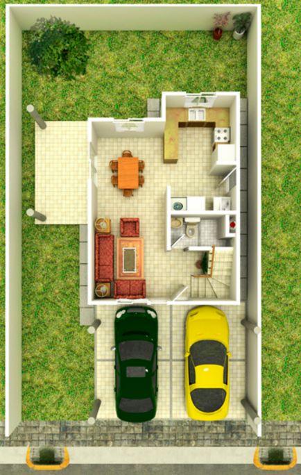 vivienda de dos niveles
