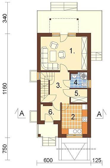 Plano de casa con garaje subterraneo for Casas minimalistas modernas con cochera subterranea
