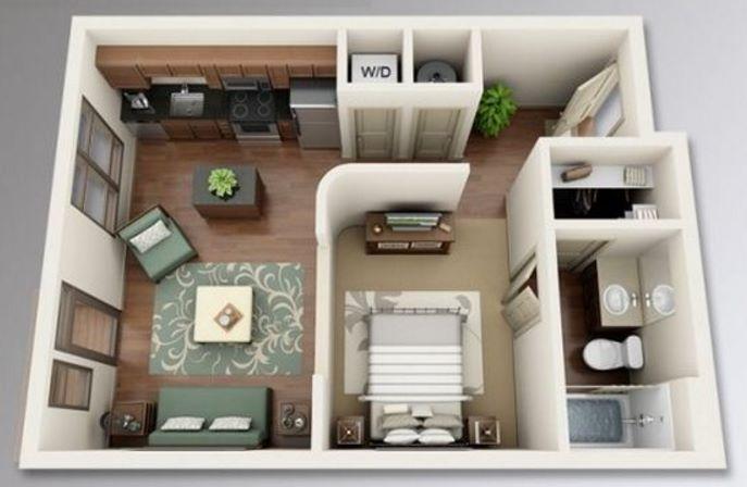 Ejemplos De Distribución De Apartamentos 30 M2