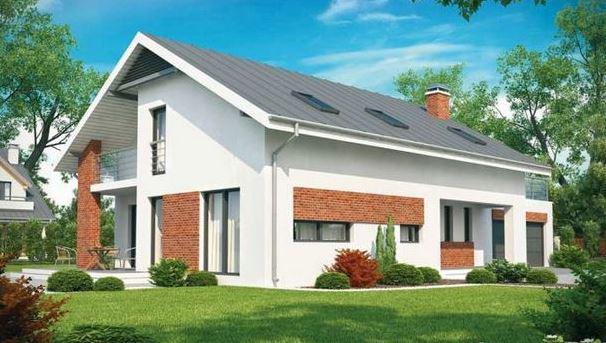 Fachada para casa de 10 x 20 m
