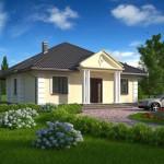 Plano de casa de 12 × 13 m