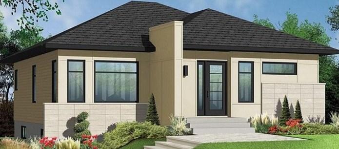 Planos de casas sencillas de un piso y 2 dormitorios - Fachadas de casas de un piso ...