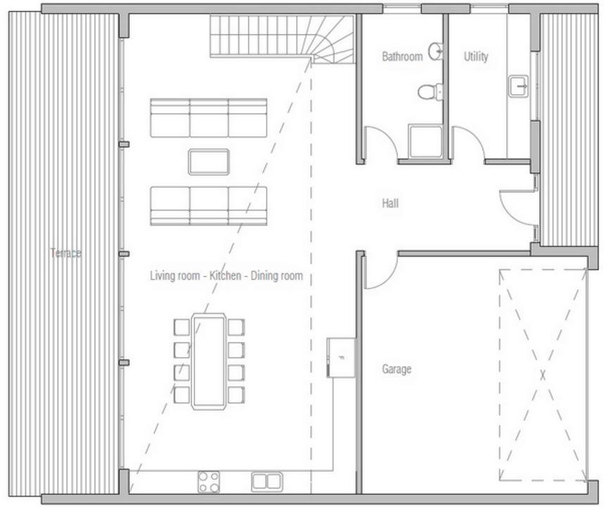 Ideas para distribuir 200 metros cuadrados