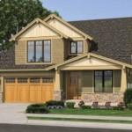 Modelo de casa de dos pisos con garaje