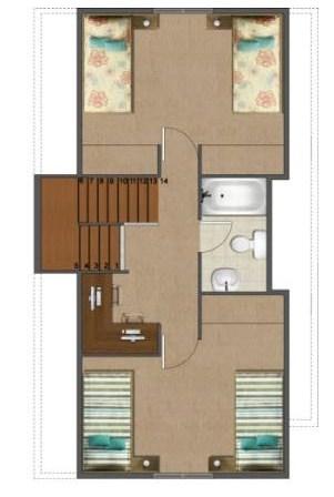 Modelos de duplex economicos 3 dormitorios