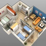 Plano casa 5 × 10 metros cuadrados