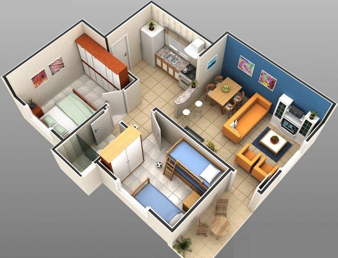 casa 5 × 10 metros cuadrados