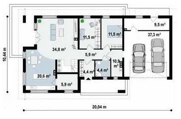 planos de casas modernas de 10 x 20