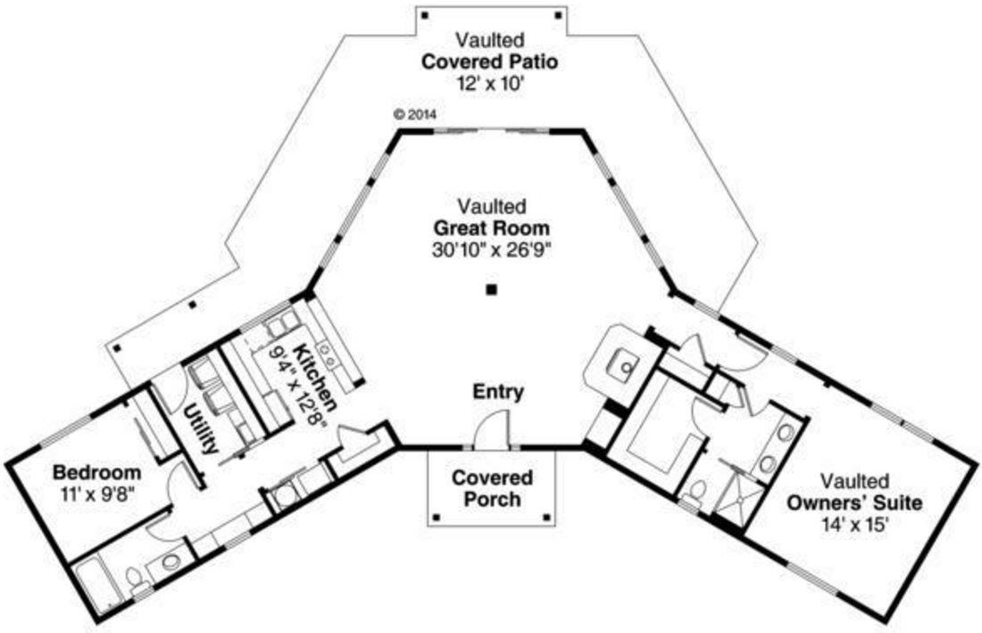 Plano de una casa simple con medidas for Planos de casas con medidas