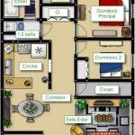 Plano de departamento de 70 metros cuadrados en un terreno de 7×10