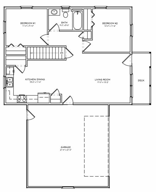 Planos de casas de 2 dormitorios con cochera doble