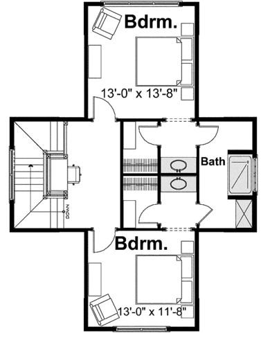 Planos de casas de 3 dormitorios y dos baños