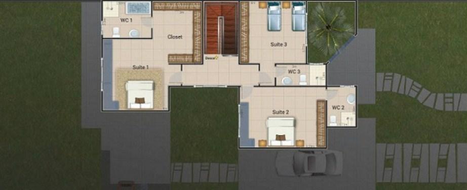Planos de casas de 4 dormitorios y 2 pisos