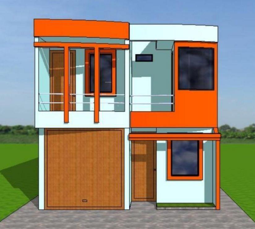 Planos de casas de 6 metros ×18 metros