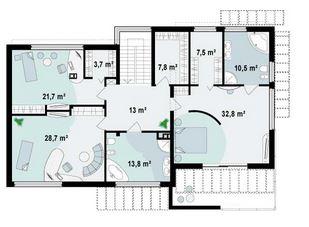 Planos de casas modernas de dos plantas con medidas