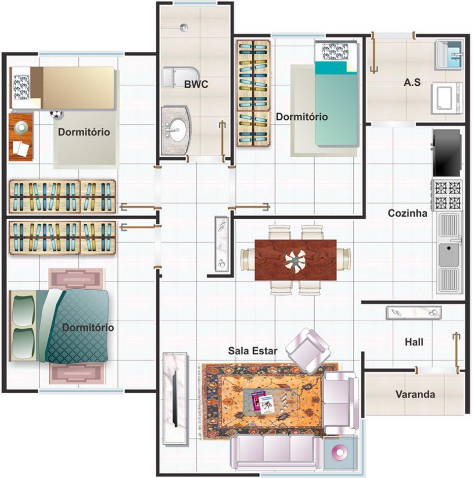 planos de casas modernas con medidas en metros