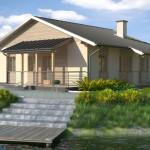 Plano de casa de 14 x 13 m for Casa minimalista 60m2