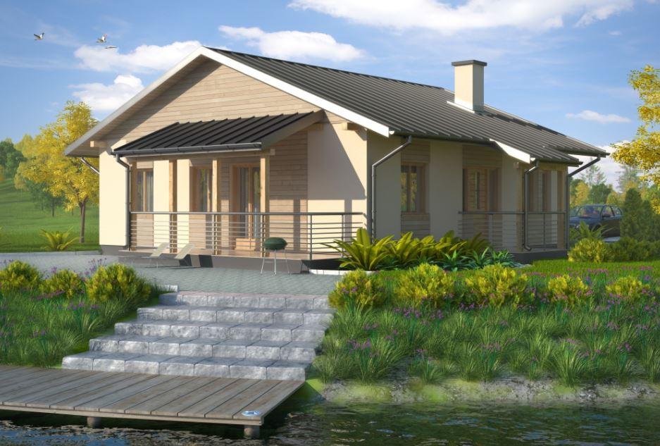 Planos de casas sencillas de 10 × 10 metros