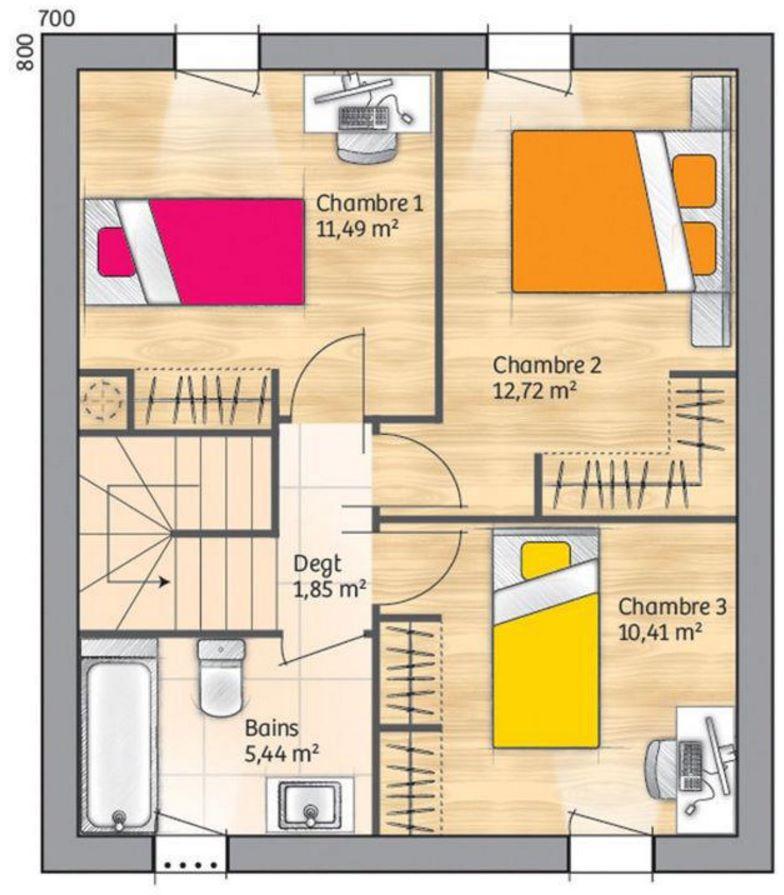 Plano de casa de 110 metros cuadrados for Planos para casas