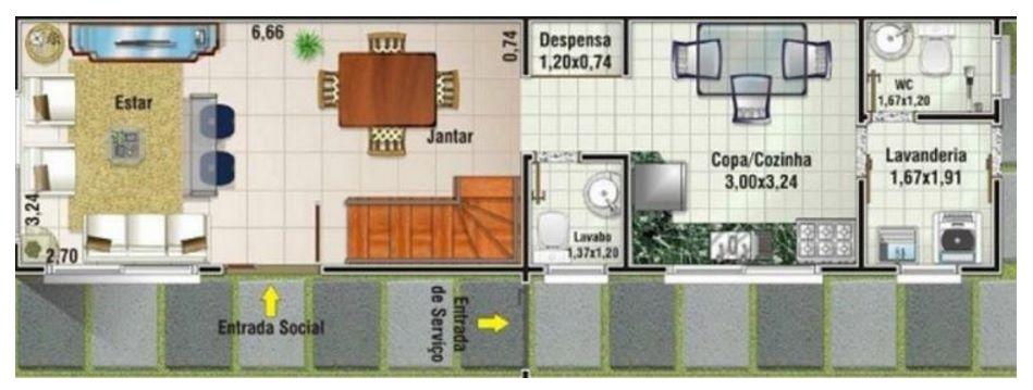 Planos de casas angostas y alargadas - Distribucion casa alargada ...