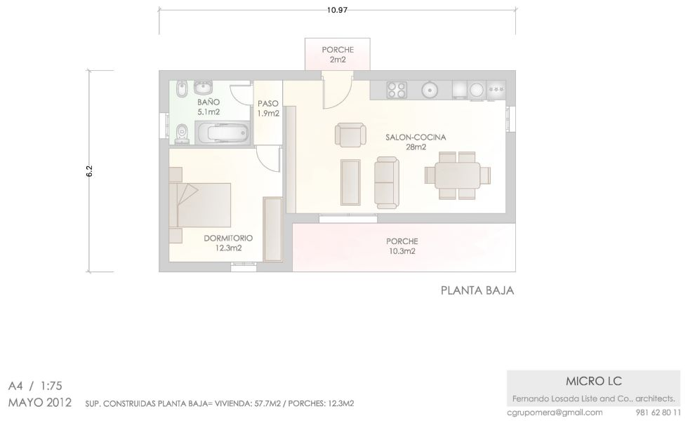 casa para dos personas