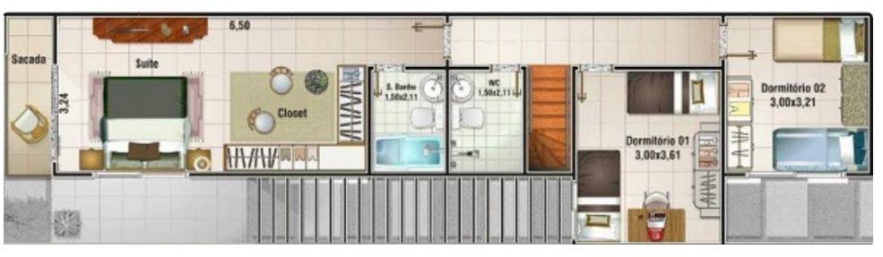 Planos de casas angostas y alargadas - Casas estrechas y largas ...
