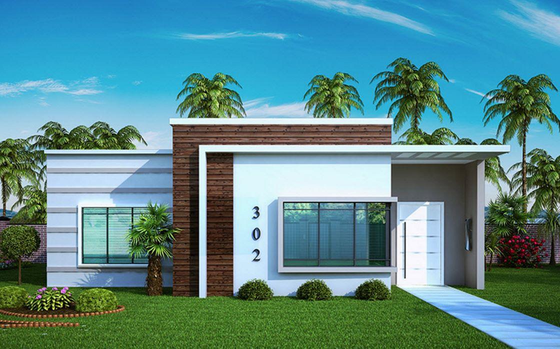 Planos de casas pequeñas con medidas en metros de una planta