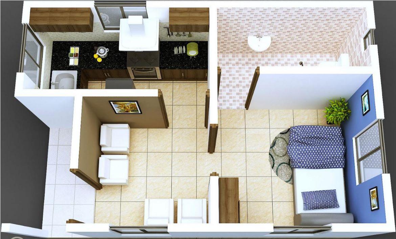Ejemplos de distribuci n de apartamentos 30 m2 for Diseno de apartamento de una habitacion