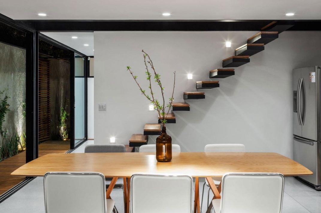 diseño de escalera empotrada