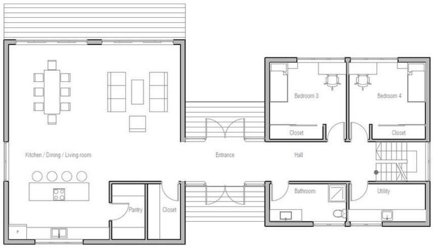 distribuir ambientes en 200 metros cuadrados