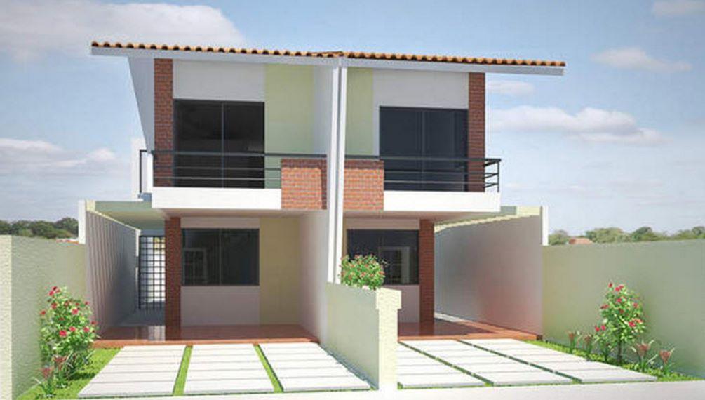 fachada de casa para terreno angosto