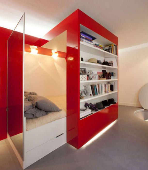 muebles en un departamento de 30m2