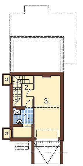 plano de casa con garaje subterraneo