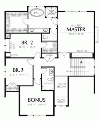 plano de casa de dos pisos con 3 dormitorios
