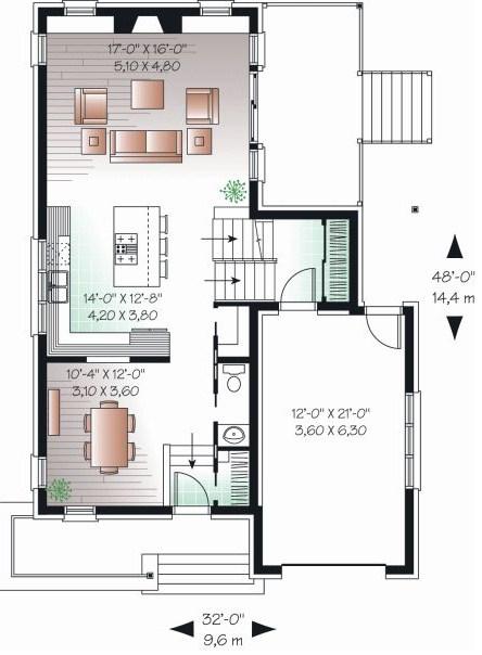 plano de casa para terreno de 10 × 20