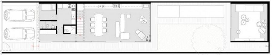 Dise o de casas en terrenos angostos y largos for Casa de planta baja