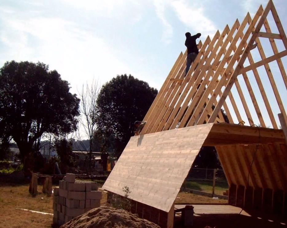 techo de casa alpina