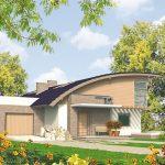 Casa con techo curvo