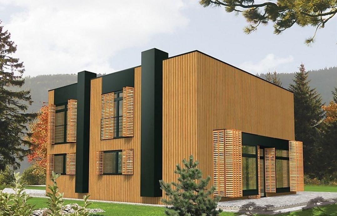 Casa moderna con revestimiento